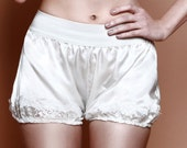 SAMPLE SALE - Charlotte silk satin Bloomer shorts Lingerie - Vintage wedding