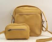 Vintage Carry-on Bag Sunshine Yellow Luggage Petite