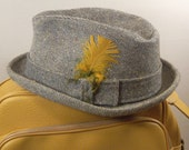 Vintage Hat Wool Fedora