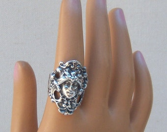 Art Nouveau Ring Sterling Silver Ring