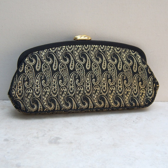 Reserved for Sue in Missouri: 1950's Vintage Clutch Purse Paisley