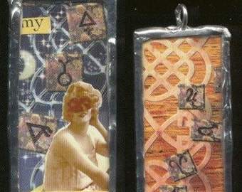 Superstition Collage Silver Soldered Pendant