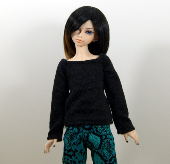 MSD Long Sleeve Black Sweater / T-Shirt for BJD