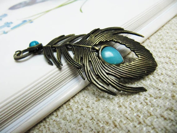 Peacock Feather Jewelry Piece