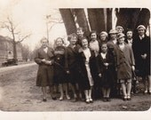 1934 Group of Ladies - Vintage Photograph - Vernacular - Found Photo - Ephemera