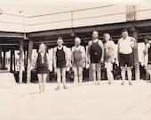Family on the Beach Vintage Photograph