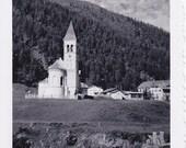 Vintage Photo - Church on the Mountainside - Vintage Photograph, Vernacular, Snapshot, Ephemera