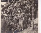 Vintage Photo - Lady in the Trees - Vintage Photograph, Vernacular, Found Photos, Ephemera (F)