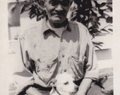 Vintage Photo - Man and a Dog - Vintage Photograph, Vernacular, Found Photo (R)
