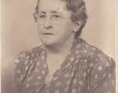 Lady in Glasses -  Vintage Photograph,Vernacular, Found Photo, Ephemera  (II)