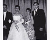 Prom Couples - Vintage Photograph, Vernacular, Black and White  (KK)