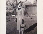Lady With Handbag Vintage Photograph (KK)