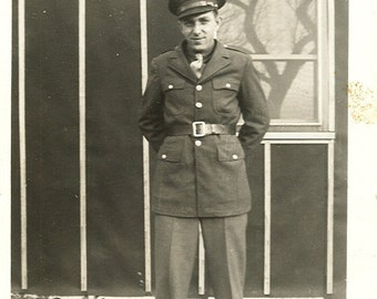 Man in Uniform - Vintage Photograph, Vernacular, Found Photo, Ephemera