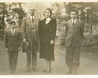 Sunday Best Family - Vintage Photograph, Vernacular Photo, Ephemera