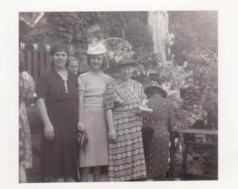 Vintage Photo - Three Ladies All Dressed Up - Vintage Photograph, Vernacular, Found Photo