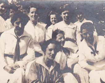 Ten Young Ladies - Vintage Photograph, Vernacular Photos, Ephemera, Snapshots