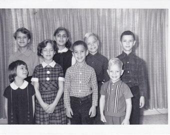 Schoolchildren - Vintage Photograph - Ephemera