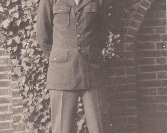 Man in Uniform -  Vintage Photograph