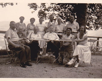 The Family Picnic -  Vintage Photograph - Vernacular - Black and White