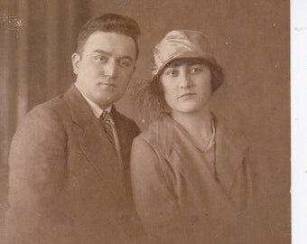 Lovely Young Couple - Vintage Photograph