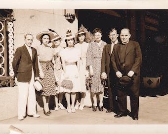All Dressed Up Group - Vintage Photograph, Vernacular, Found Photo, Ephemera  (X)