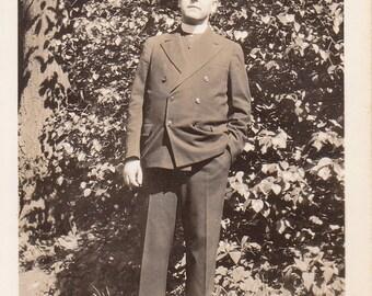Vintage Photo - Priest - Vintage Photograph, Vernacular, Found Photo (Z)