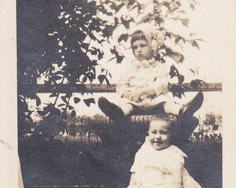 Two Toddlers - Vintage Photograph (HH)