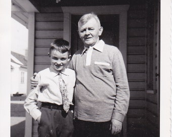 Vintage Photo - Grandpa and Me,Vernacular, Ephemera, Paper Ephemera, Vintage Photo  (LL)