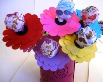 Gerber Daisy Lollipop Favors Perfect for a Garden Party Birthday Party or Baby Shower