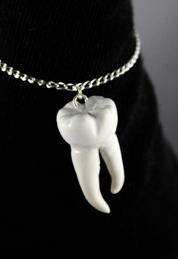 Tooth Necklace, Jewelry, Handmade