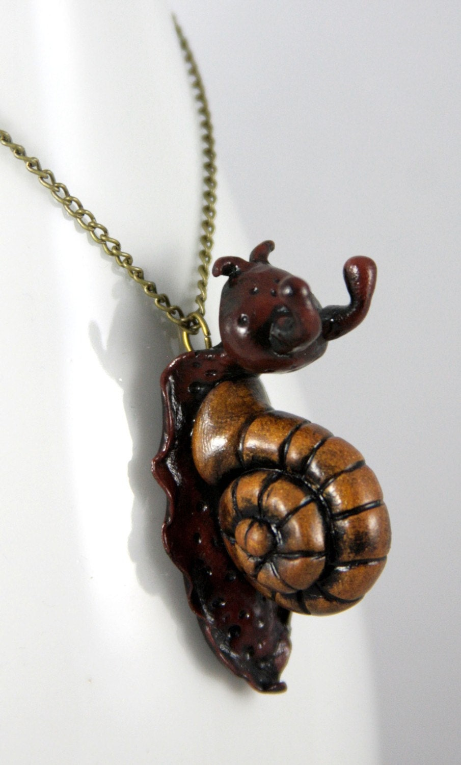 Dark Garden Snail Necklace Jewelry Handmade