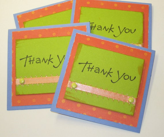 Thank You Mini Note Cards - Set of 4