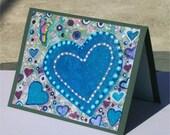 Heart on canvas valentine