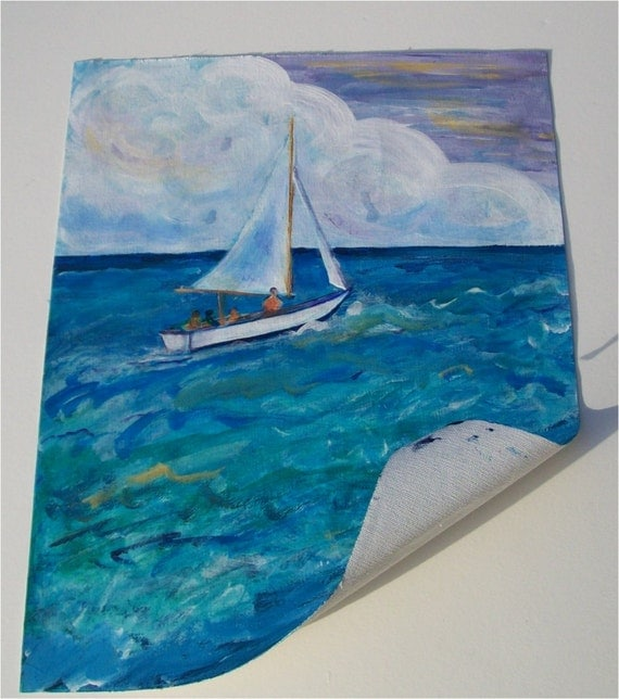 Gone Sailing original painting on canvas