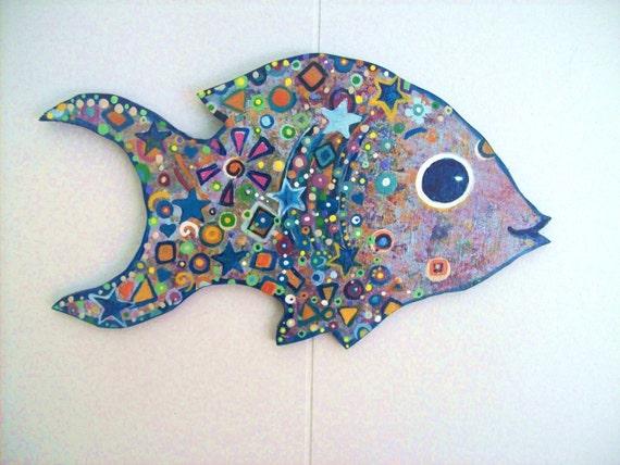 Big Eyed Fish on wood
