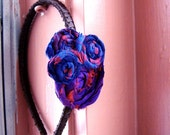 Headband Silk Flannel Pruple Blue Red Brown-Girlie Grunge FREE SHIPPING