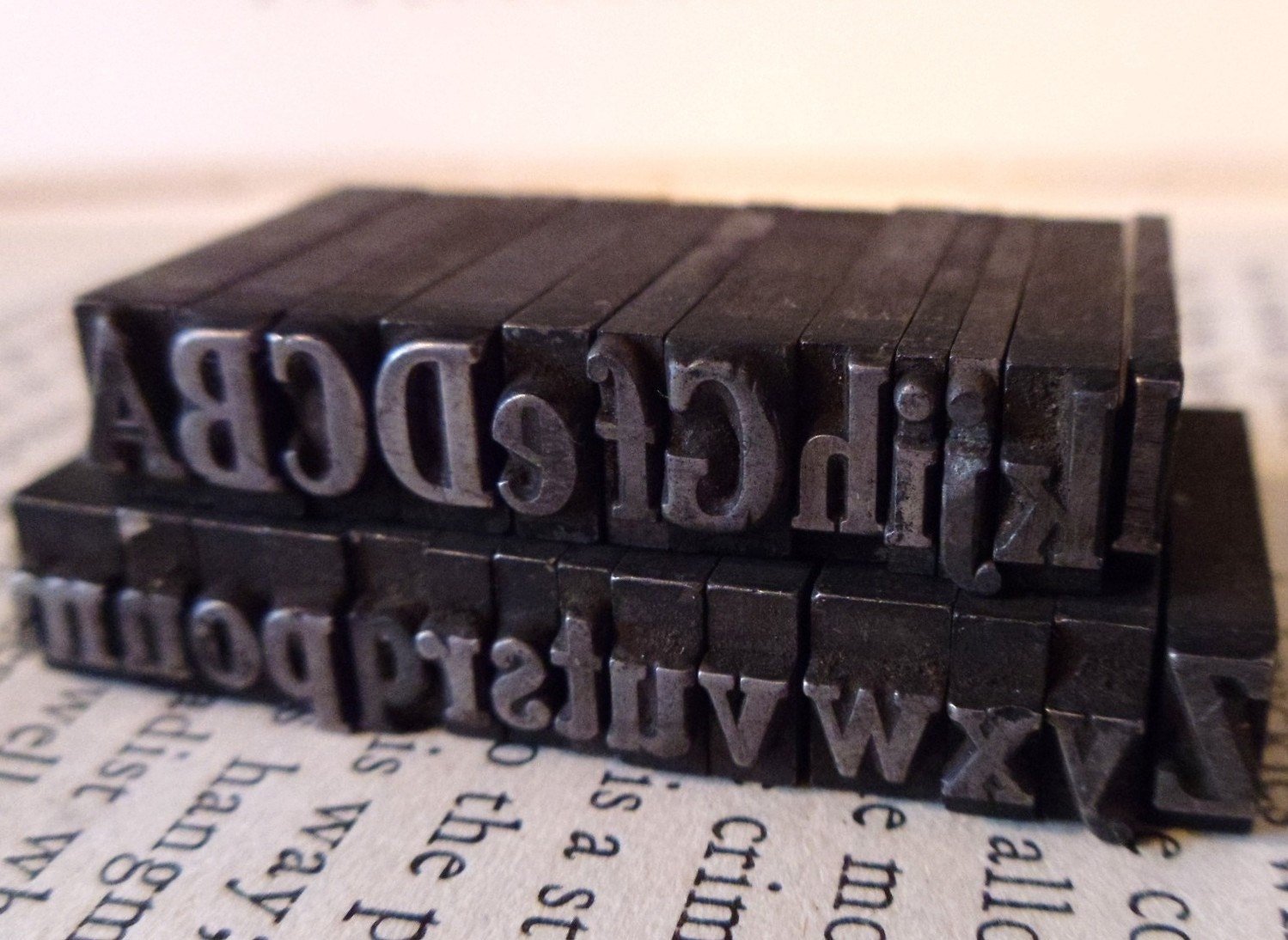 Rare Alphabet Set Vintage Printing Press Letters Perfect