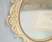 Shabby Chic Cottage Ornate Picture Frame Mirror Ivory Cream French Victorian Vintage