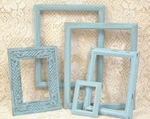 Shabby Chic Frames Picture Frames Frame Set Turquoise With Glass Aqua Blue Gallery Collection