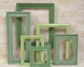 Picture Frames Shabby Chic Picture Frames Green Frame Set Gallery Wall Collection