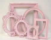 Picture Frames Shabby Chic Frame Set Ornate Frames Gallery Wall Pink Wedding Nursery Decor