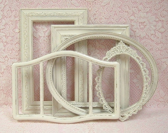 Shabby Chic Frames Picture Frames Ornate Frames Ivory Gallery Wall Wedding Decor