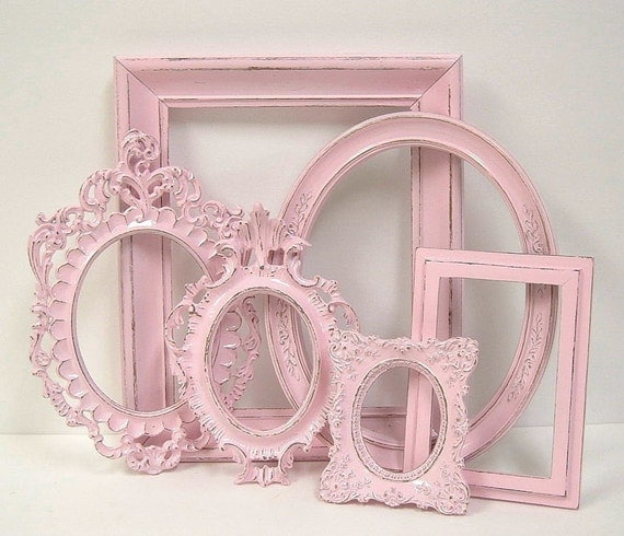 Picture Frames Shabby Chic Frame Set By Mountaincoveantiques