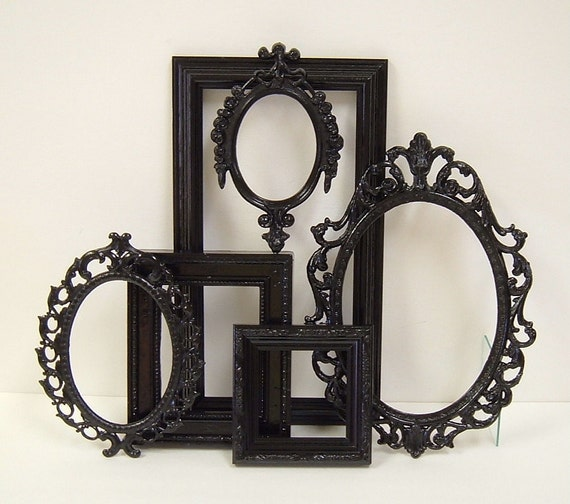 picture frames black shabby chic frames set ornate frames wall home wedding decor