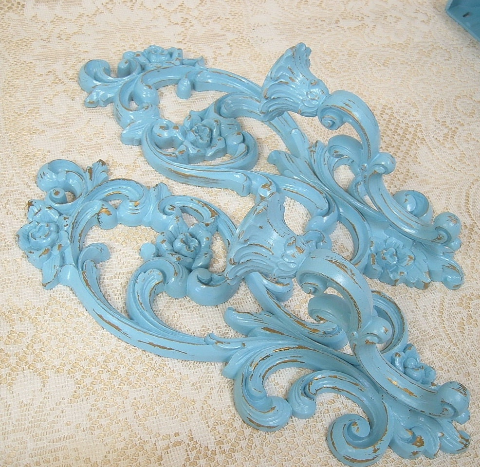Turquoise Shabby Chic Bedrooms: Shabby Chic Decor Aqua Turquoise Blue By MountainCoveAntiques