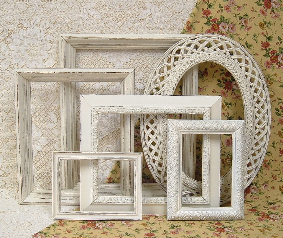 Shabby Chic Frames Off White Ivory Picture Frame Set Ornate