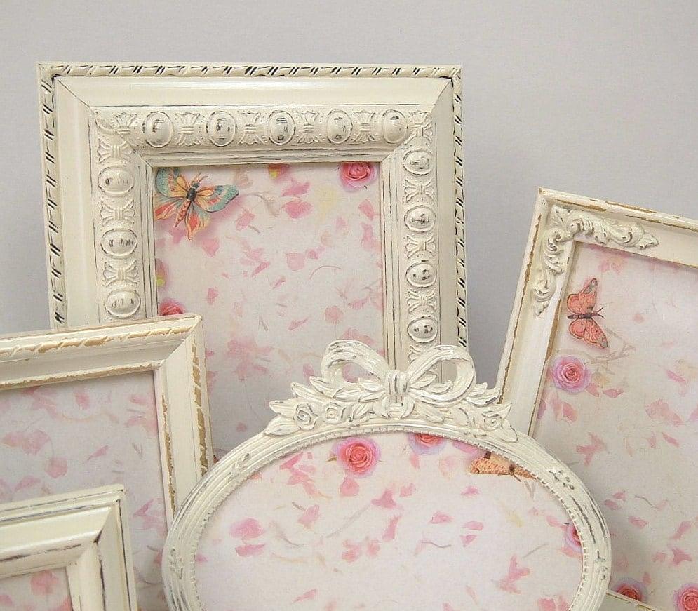 Shabby Chic Picture Frames Ornate Frame Set Ivory Heirloom