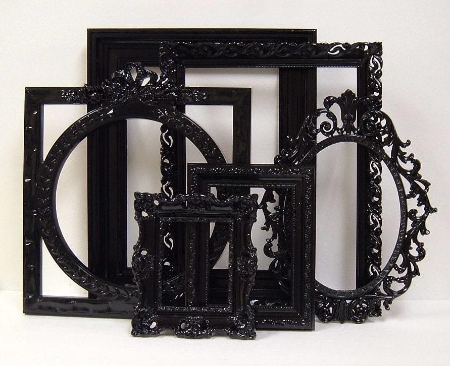 picture frames black shabby chic frames set ornate frames. Black Bedroom Furniture Sets. Home Design Ideas