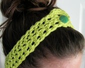 Crocheted Headbands with Button Closure 7 COLORS