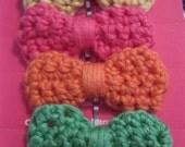 Crochet Bow Hair Pins